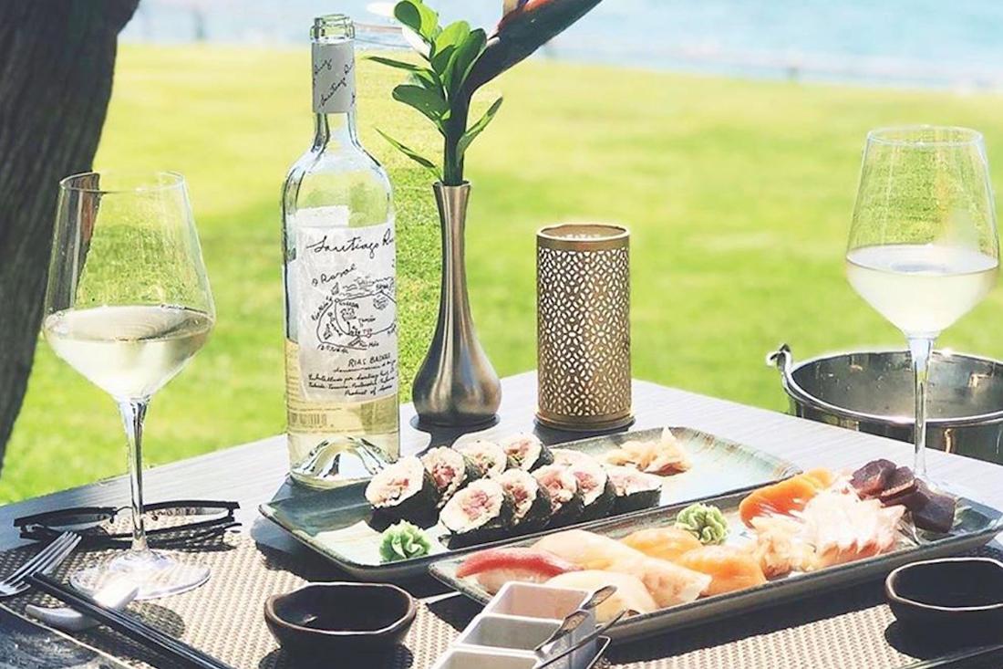 Albariño y comida japonesa